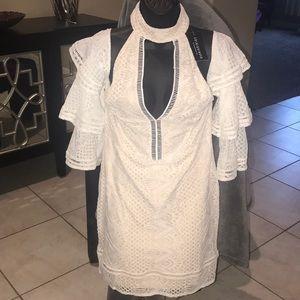 Fashion Nova Refined Lace Dress in Ivory NWT